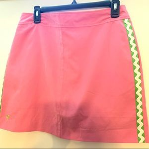 LILLY PULITZER JAMIE SKORT PINK AND GREEN SIZE 8